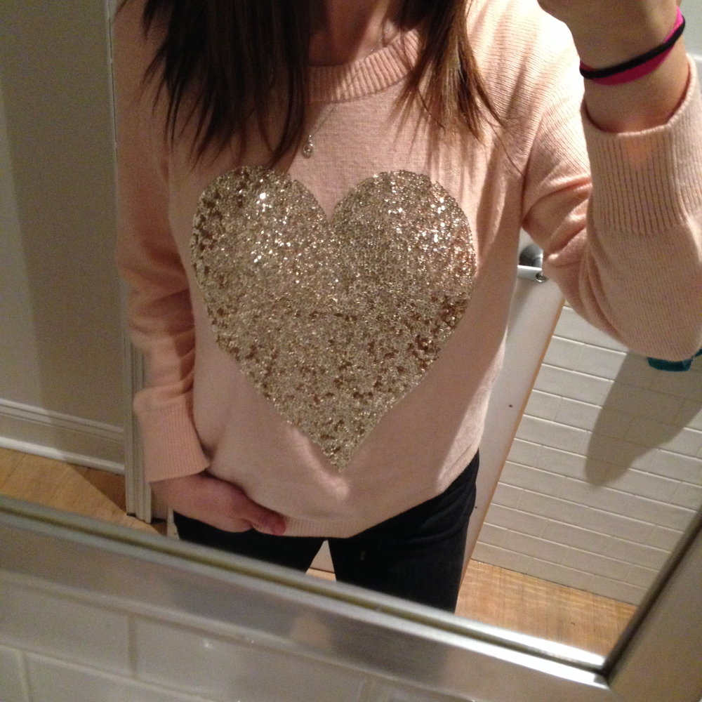 H&M Heart Sweater