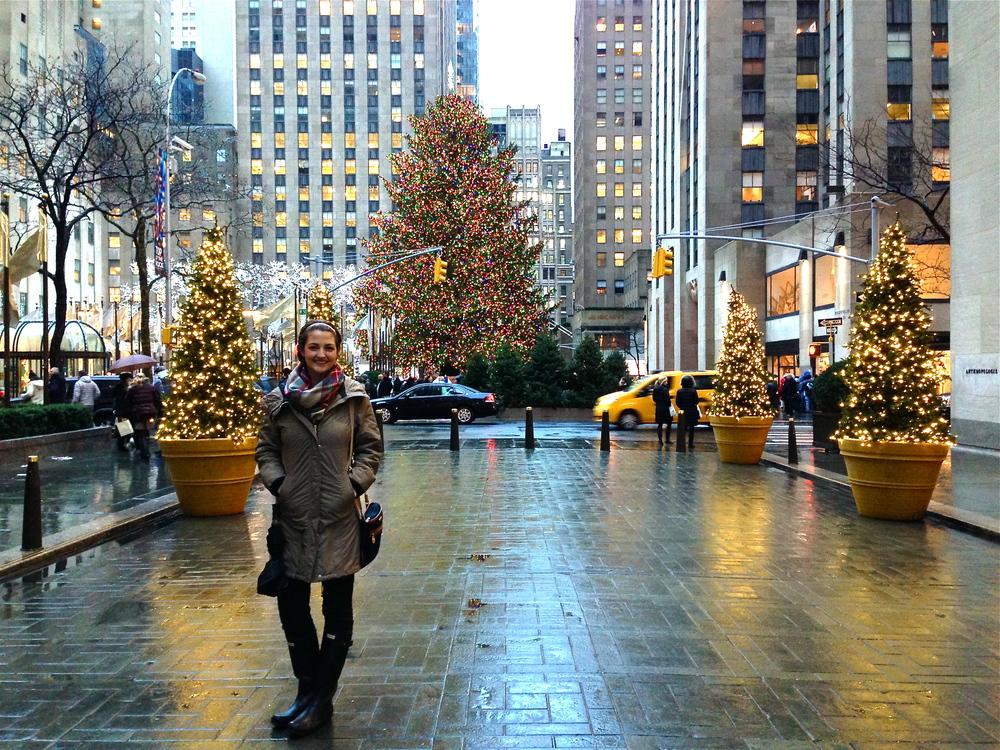In front of Rockefeller Tree