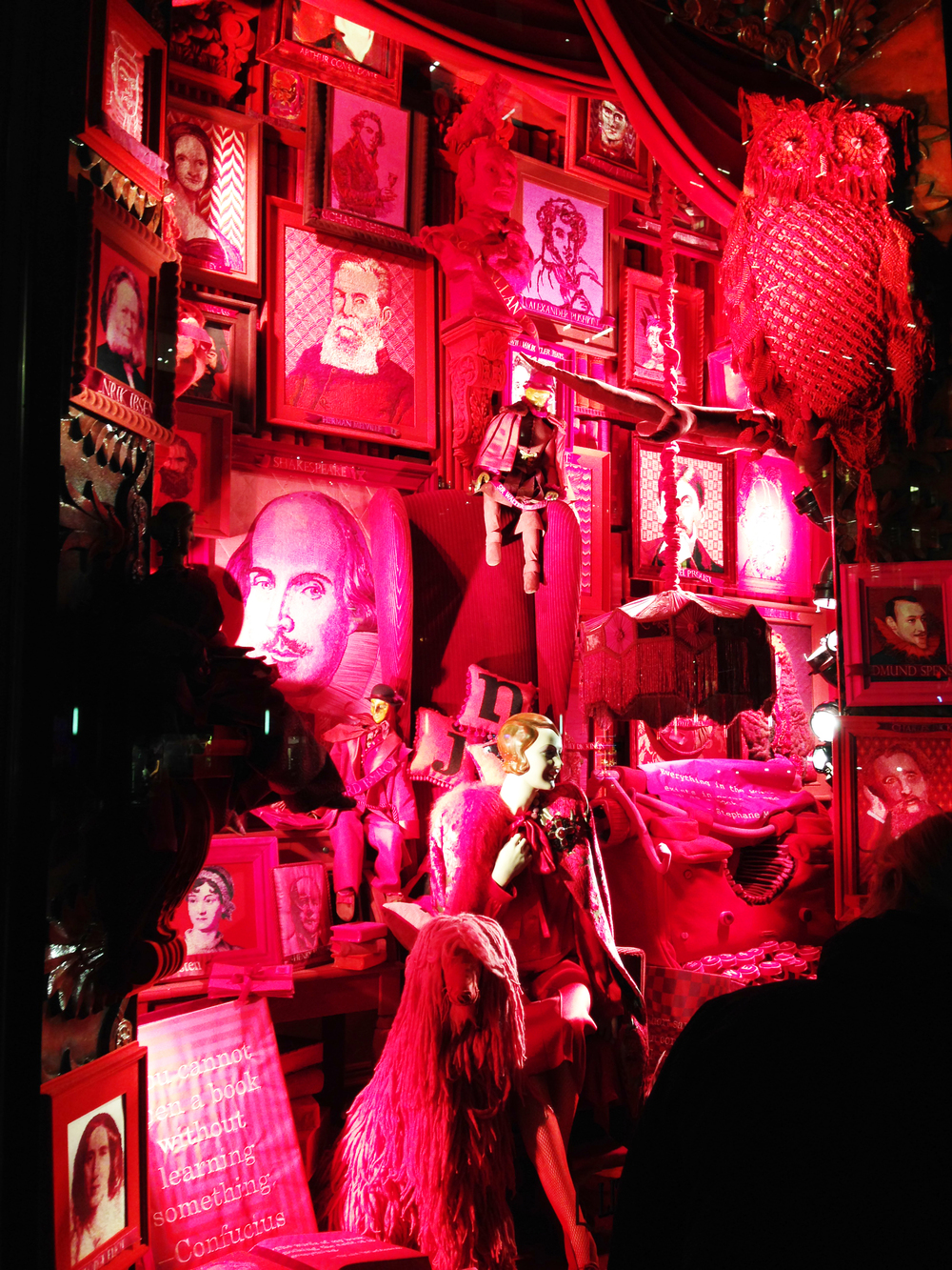 holiday window at bergdorf goodman