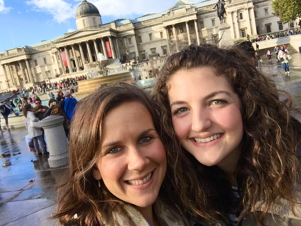 Anna and Cori Trafalgar Square