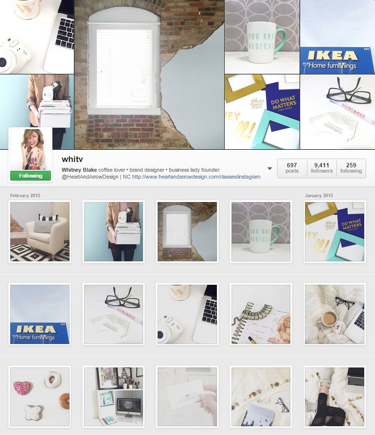 *Photos are by Whitney Blake. This is a screenshot of her Instagram page.