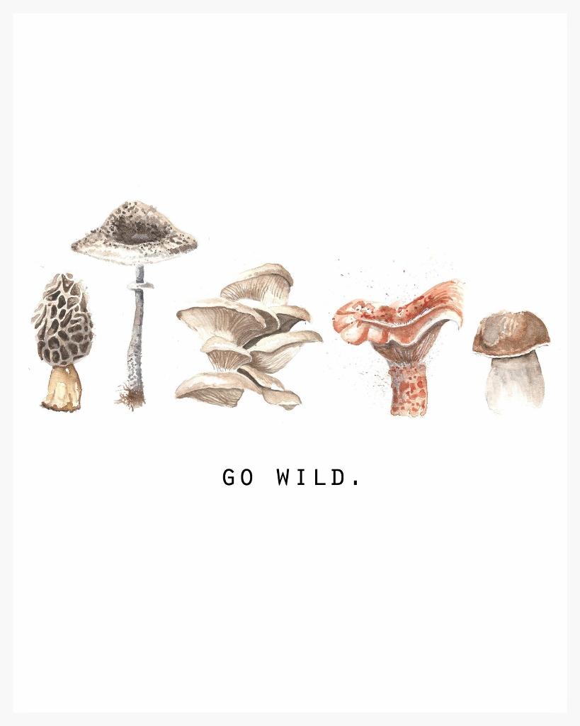 wild mushroom print
