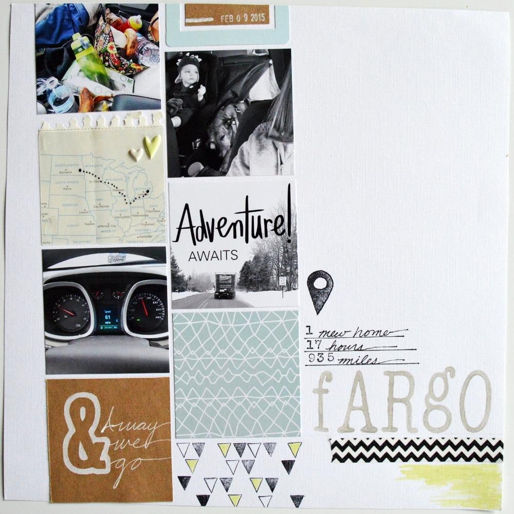 fargo scrapbook page