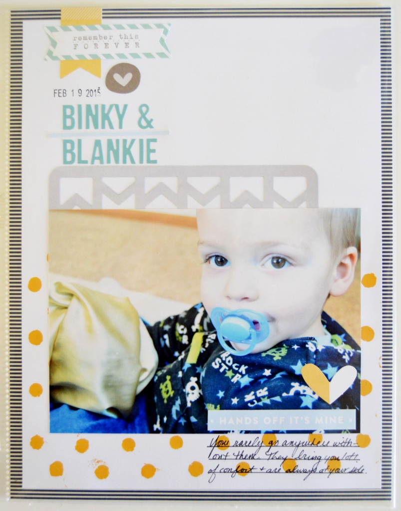 8.5 x 11 Scrapbook Page | Scraptastic Club | Toddler