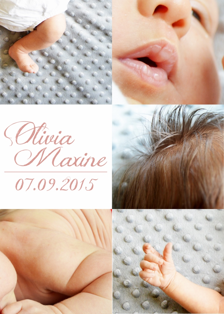 Monthly baby photo close up