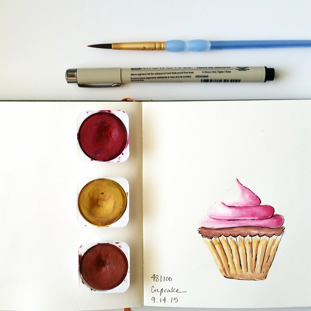 Year of Creative Habits | Watercolor Cupcake