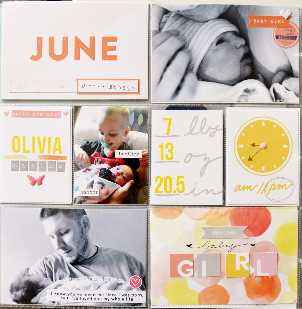 Food Family Story | Olivia's Project Life Baby Album