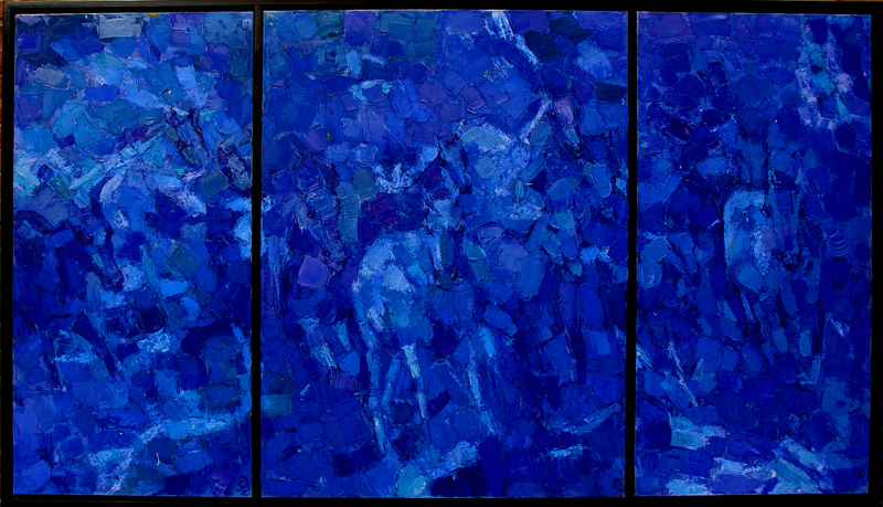 Blue Horses Triptych
