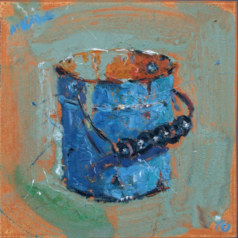 "Blue Bucket 24x24"""