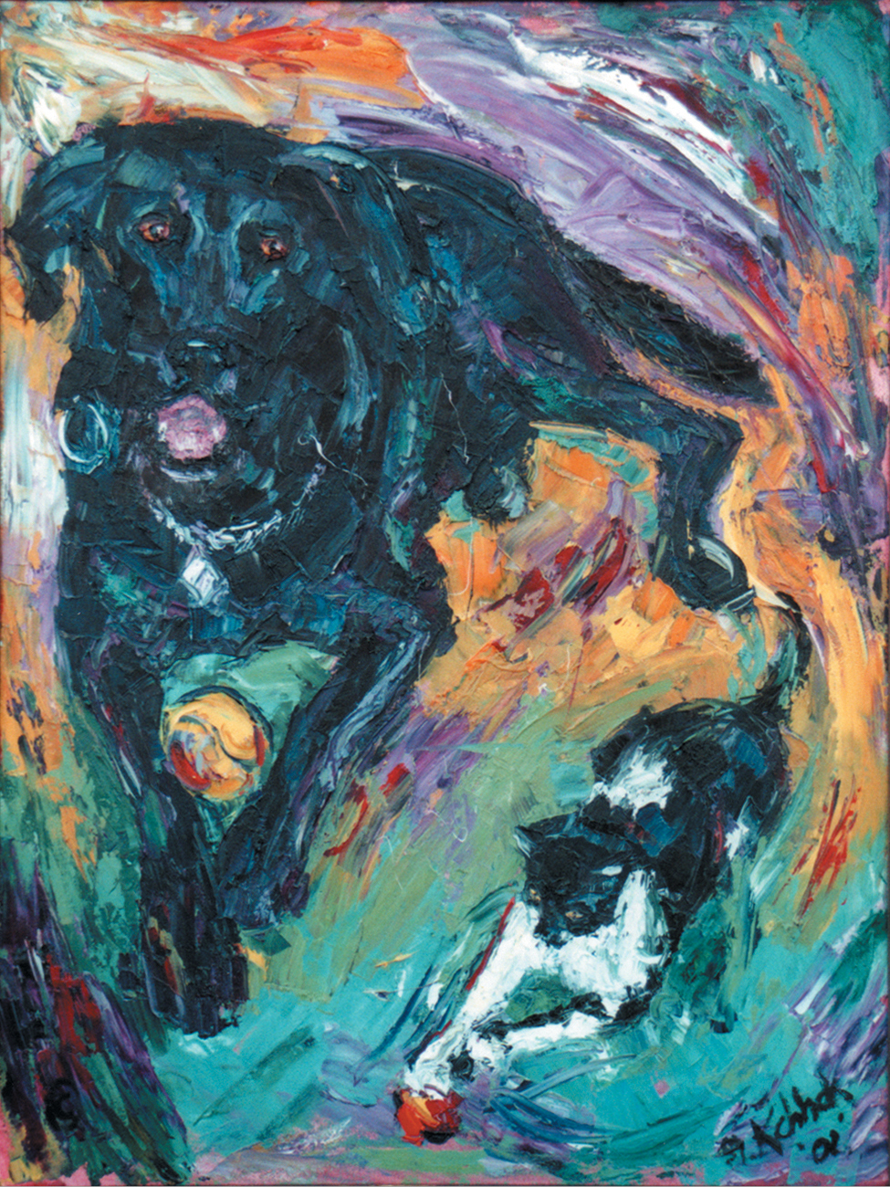 Dog and Cat 48x36""