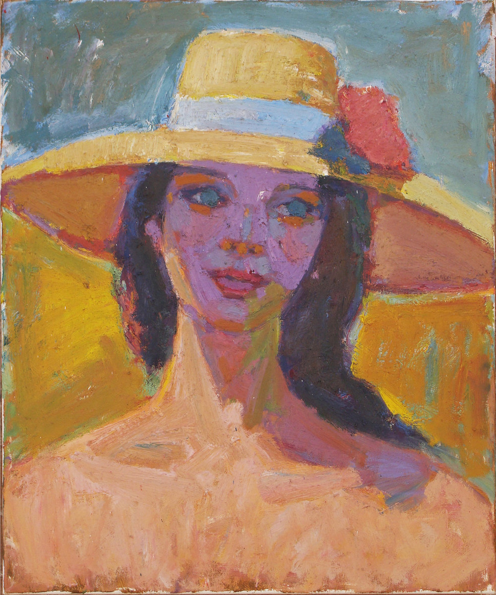 Woman with Hat 24x20""
