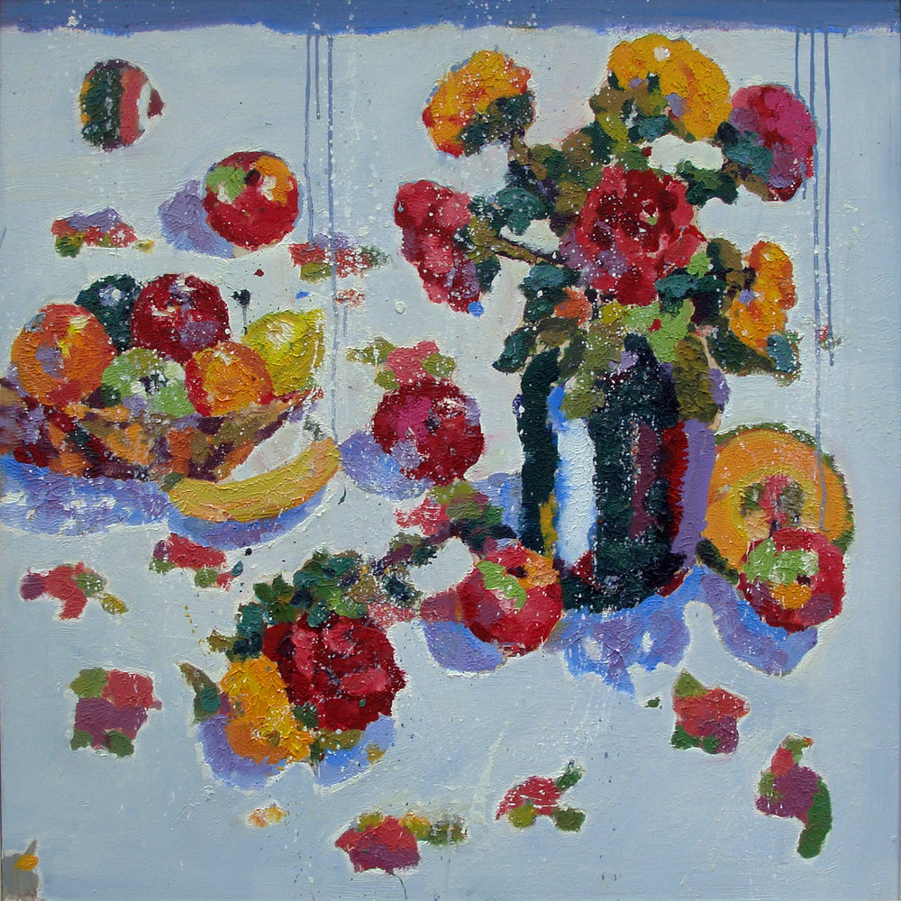 Fruits and Roses  40x40""
