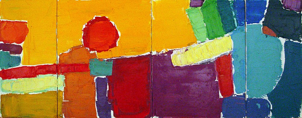 "Sunset Quadriptych  36x72"" SOLD"