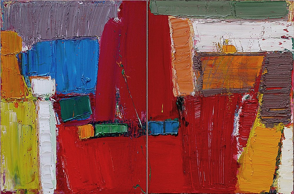 Abstract Diptych  40x60""
