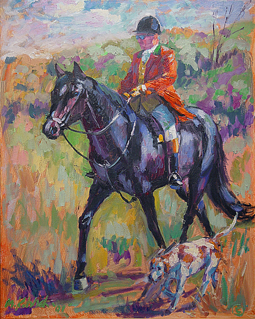 Fox Hunter  30x24""