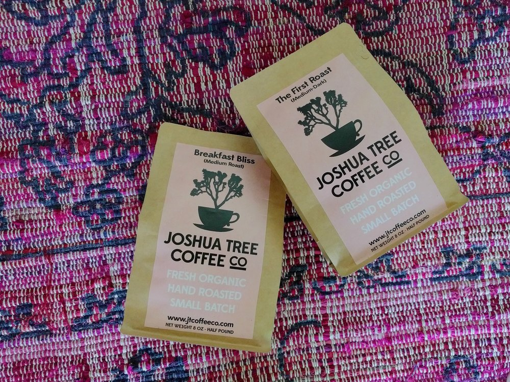3| JOSHUA TREE COFFEE CO. - Maybe I should have listed this first, as this purchase is what sent me down the french press rabbit hole. While in Joshua Tree we stopped by their local roasters for coffee and I was super impressed by their quality. Again, I am new to drinking coffee, but because of digestive issues, I am constantly searching for roasts that I can drink without any cream or sugar added. This checks all the boxes.