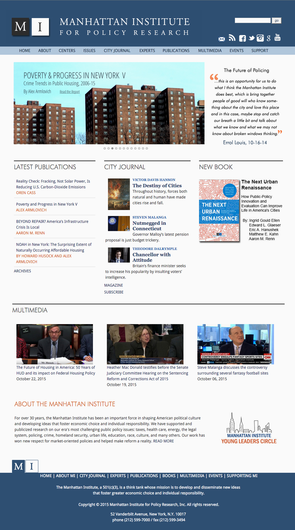 Previous Manhattan Institute Homepage