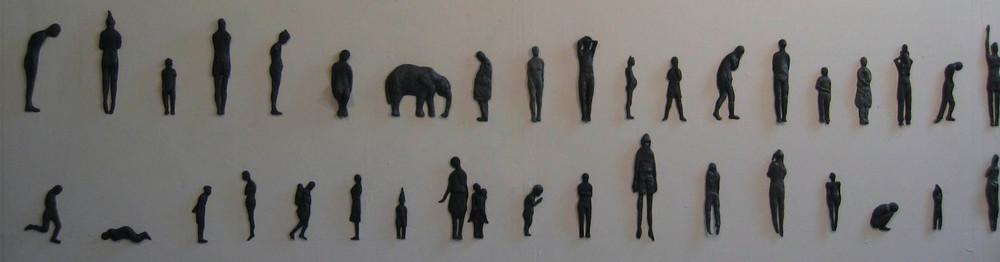 """Continuum ,Ceramic, 22 x 94 x 2""""- 2006"""