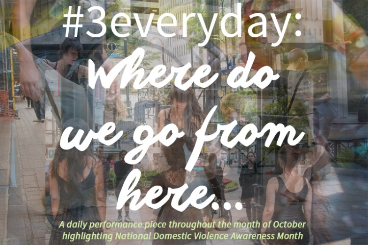 This postcard and other promotional material was designed by me in support of #3everyday.