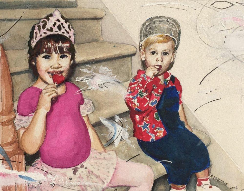 Brandon-Ellis-painting-two-children.JPG