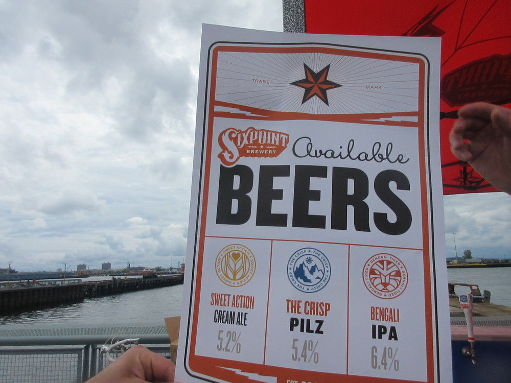 List of beers that Sixpoint was serving