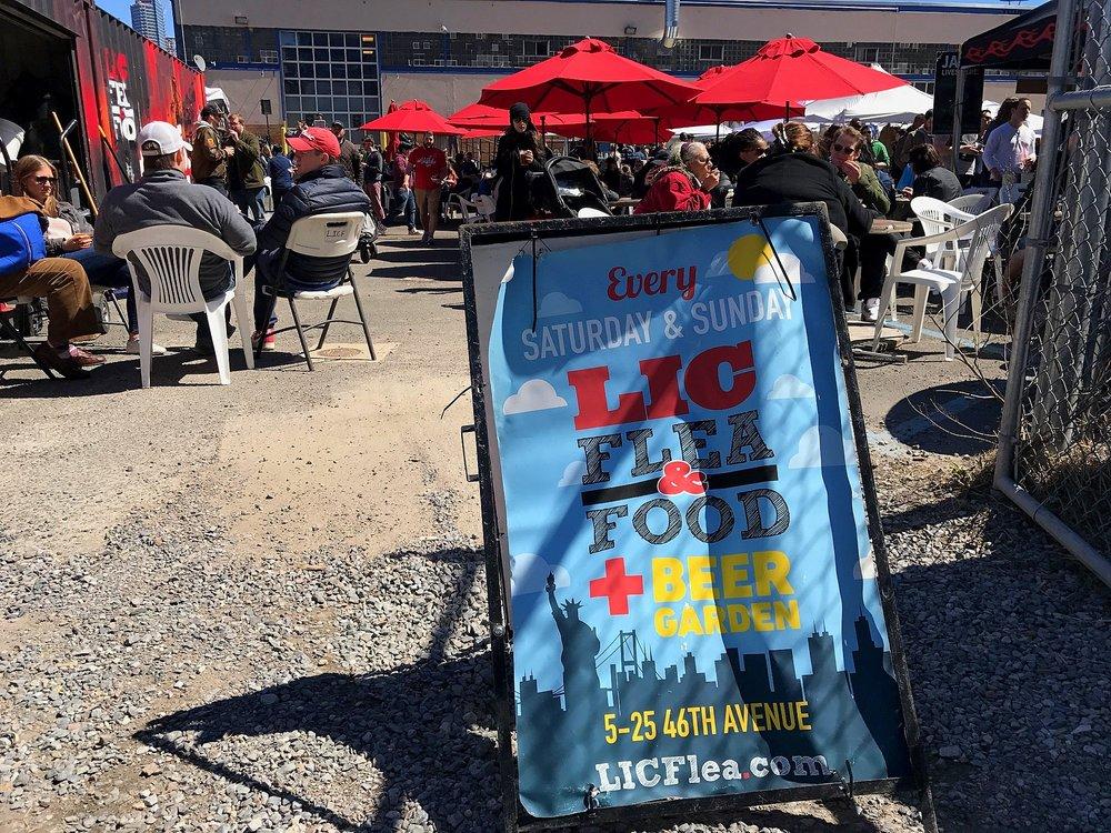 LIC Flea Day 1_Beer Garden Sign.JPG
