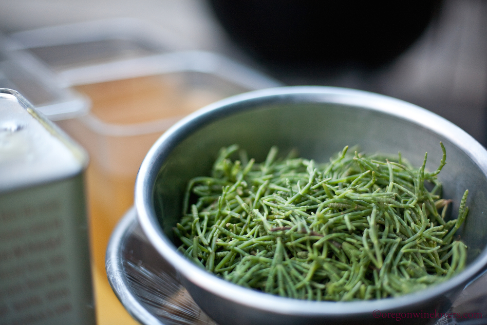 sea beans add the right touch of ocean saltiness