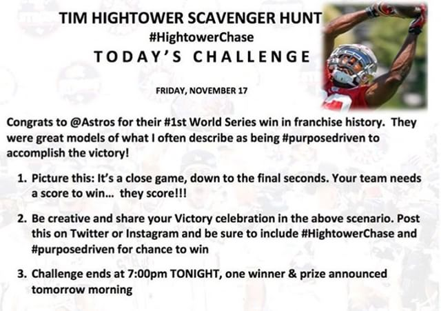 We are up for the challenge!  #HightowerChase #ChaseIsOn