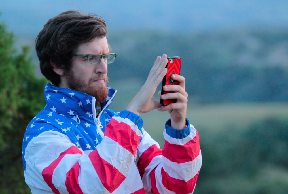 Trevor took this picture of me taking a picture in Teddy Roosevelt National Park in July of this year.