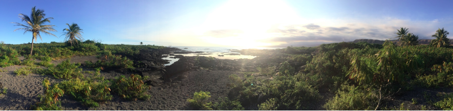 Panorama of Keauhou beach, I think I'm in love!