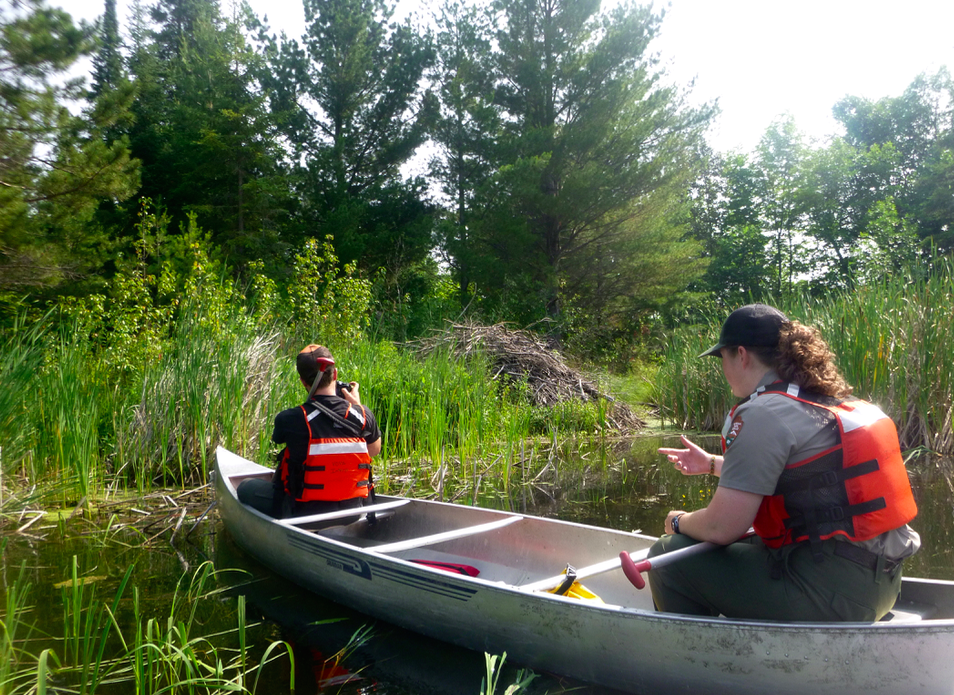 Our canoe trip to the beaver house