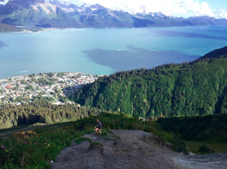 The view down on Seward from Mount Marathon