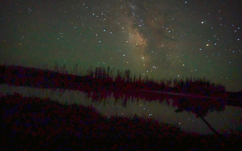 Yellowstone gave me an early morning birthday show with the Milky Way, so I find it fitting to honor it's 100th birthday with the same stars