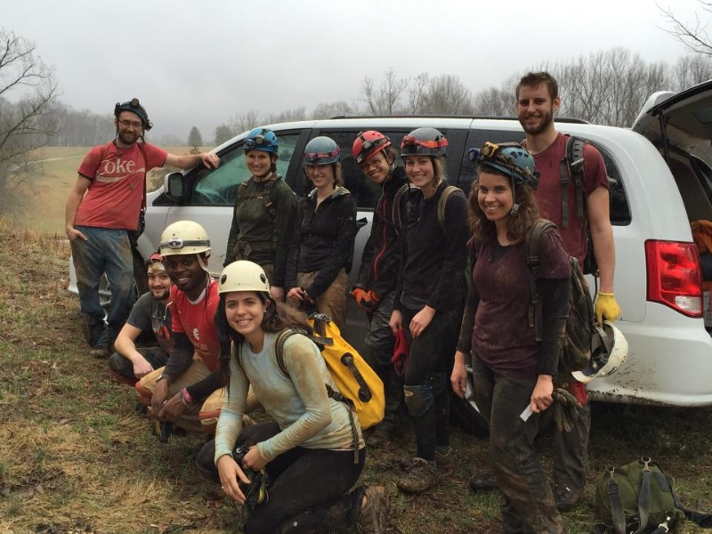 2015 Isotopes and Environment students after our caving field trip in Tennessee.