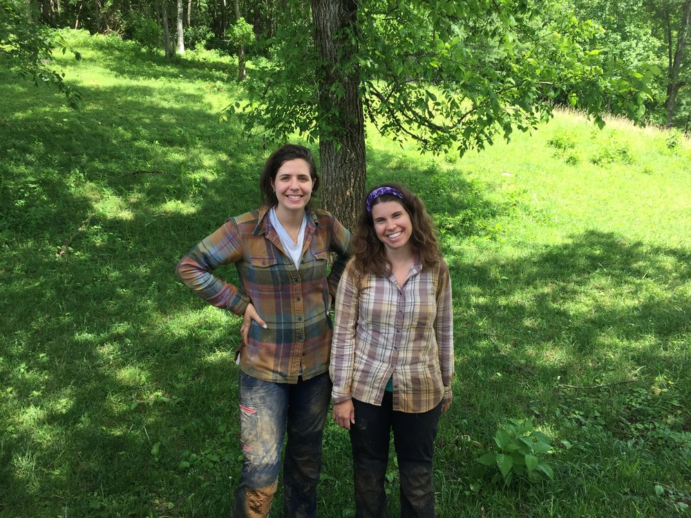 Izzy and Jessica after caving in Tennessee, 2017