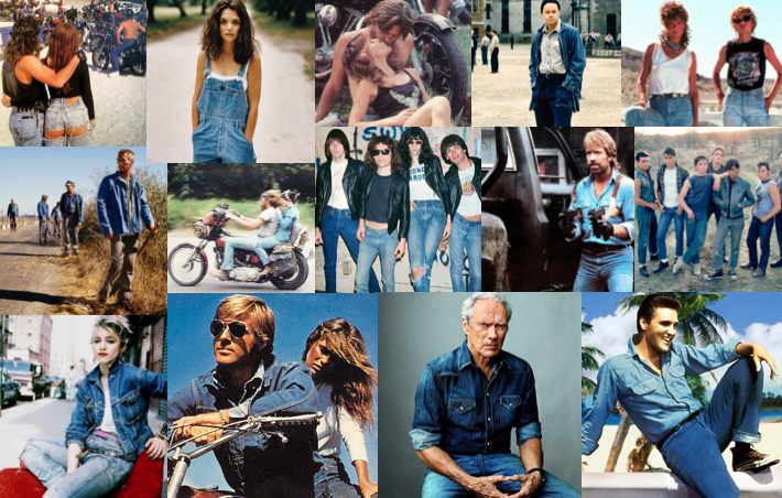 Let's Hang Out!  Some classic denim inspiration, concert events on our patio, vintage sales, movie nights, art shows.