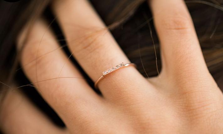 Of A Kind Dainty Champagne Diamond Ring blanca monros gomez