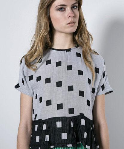Ace & Jig Terrace Tee in Hopscotch and Black