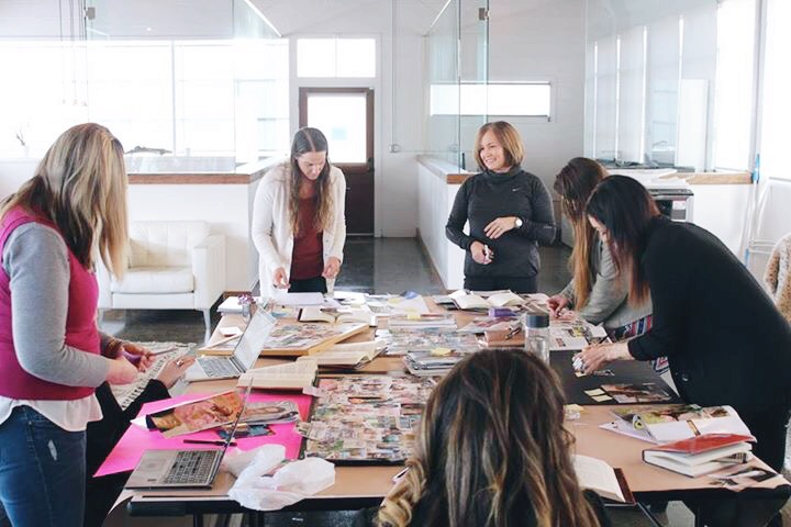 Vision board workshops with Sarah Centrella