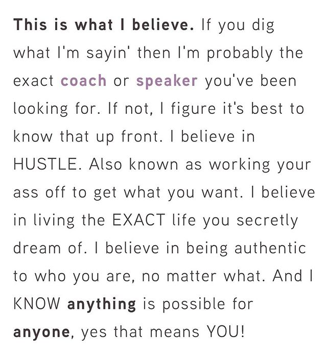 This is what I believe... read my whole letter on my homepage #ibelieve #lifecoach #speaker #hustlebelievereceive #hbrmethod @sarahcentrella @hustlebelievereceive