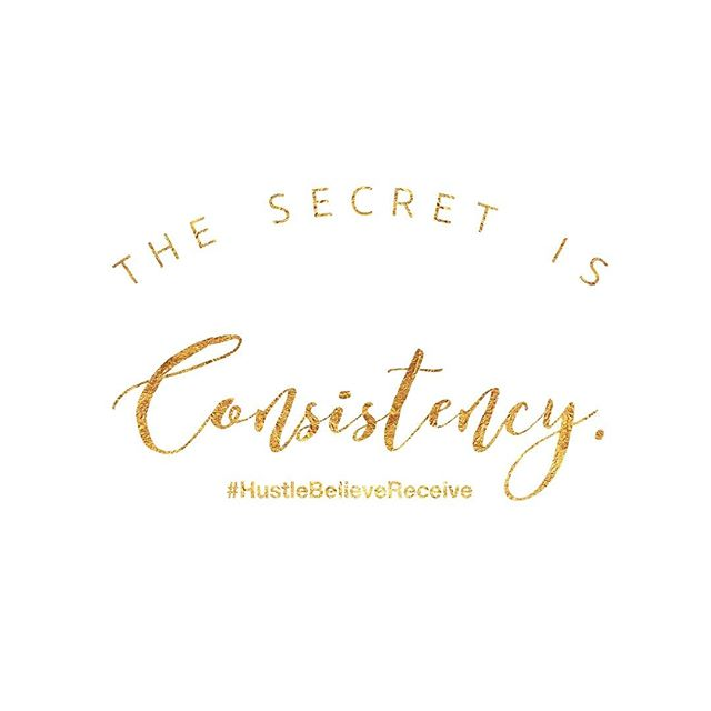 Literately consistency is the key to success in ANYTHING. If you just continue to do what needs to be done without quitting, results will follow. #dontgiveup #beconeistent #hustlebelievereceive #hbrmethod @hustlebelievereceive @sarahcentrella
