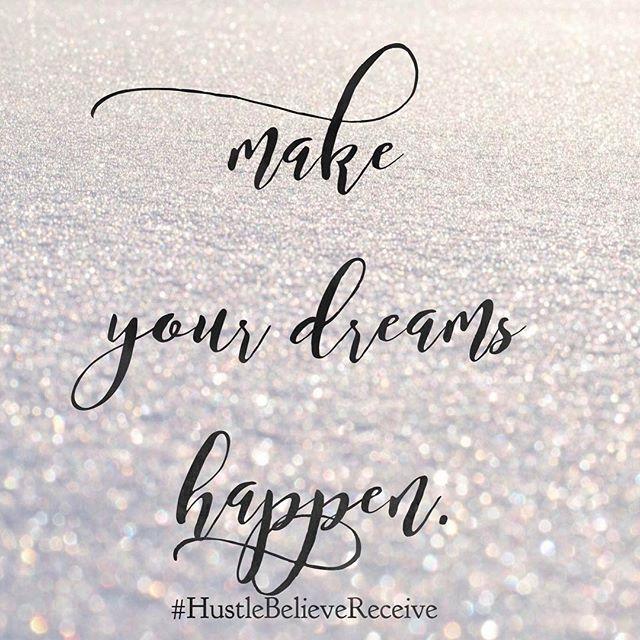 First you've gotta dream, but then you've gotta DO. #liveyourdreams #hustlebelievereceive @hustlebelievereceive @sarahcentrella #hbrmethod