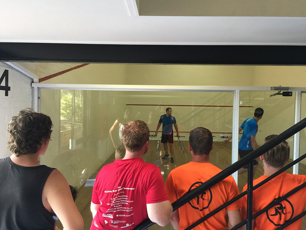 Russell Mclean doing his thing. Bendigo Squash
