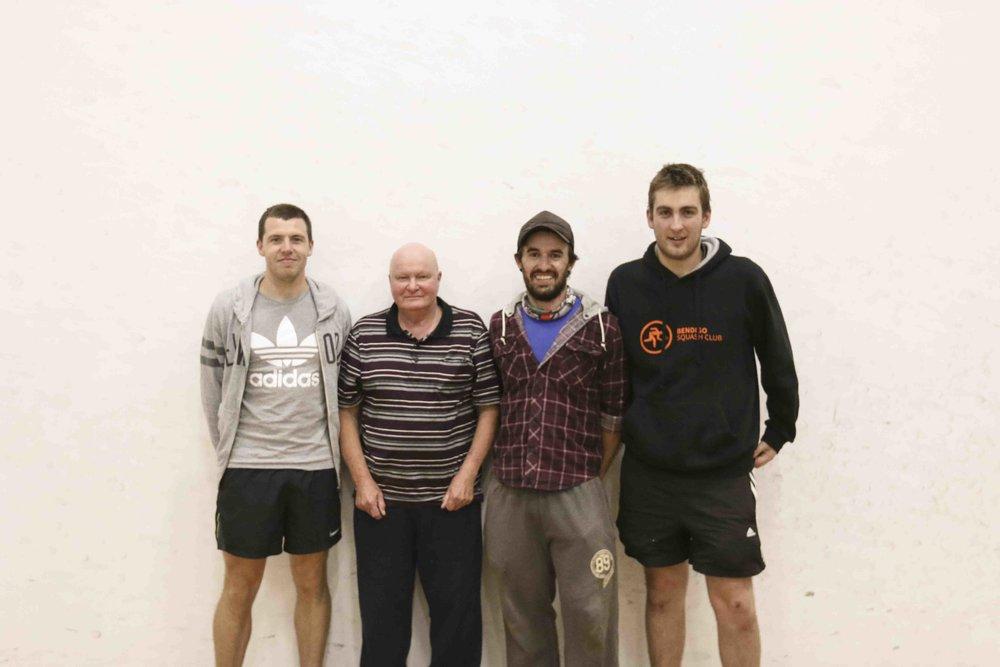 B GRADE From Left: Nick Patterson, Frank Nott, Nathan Morley, Jesse Harding