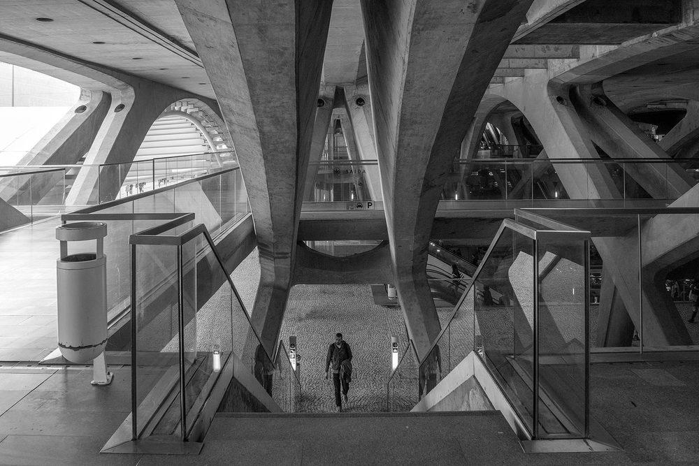 Gare do Oriente, Lisbon, Portugal, Santiago Calatrava, 1998