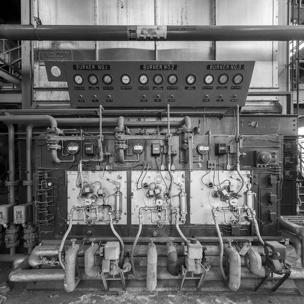 Detail, Control Panel for Boiler, main floor, Boiler House