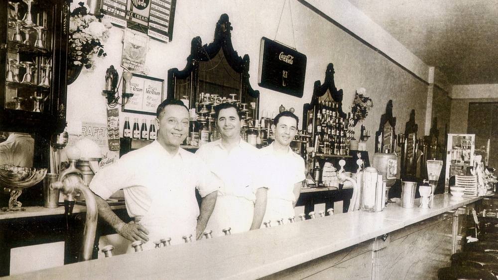 George Panarites, John Coulouris, Tom Haramis in the Sweet Shop circa 1929