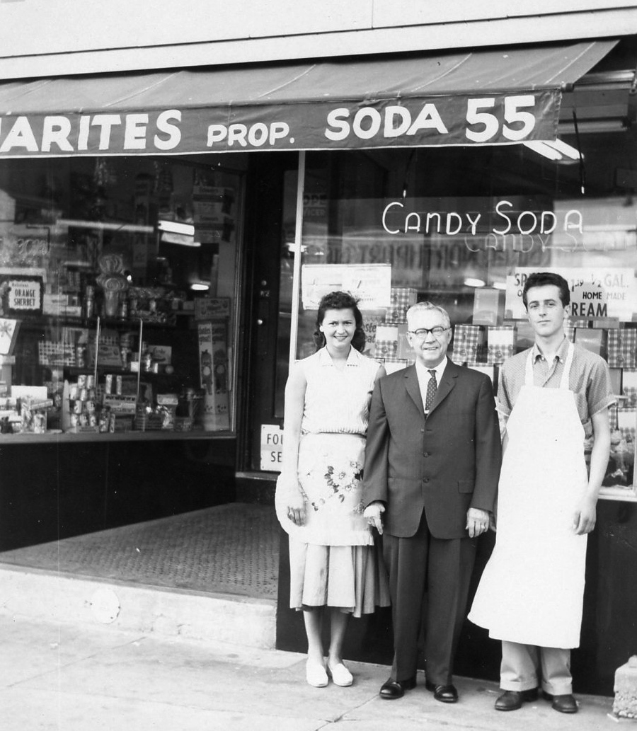 George Panarites with daughter Georgia & Nephew Michael circa 1961