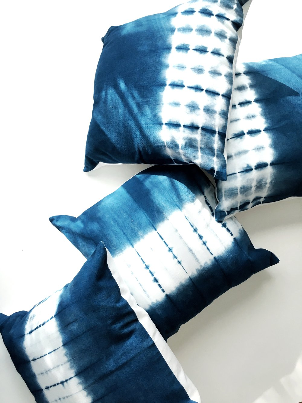 Shibori Pillows in two patterns