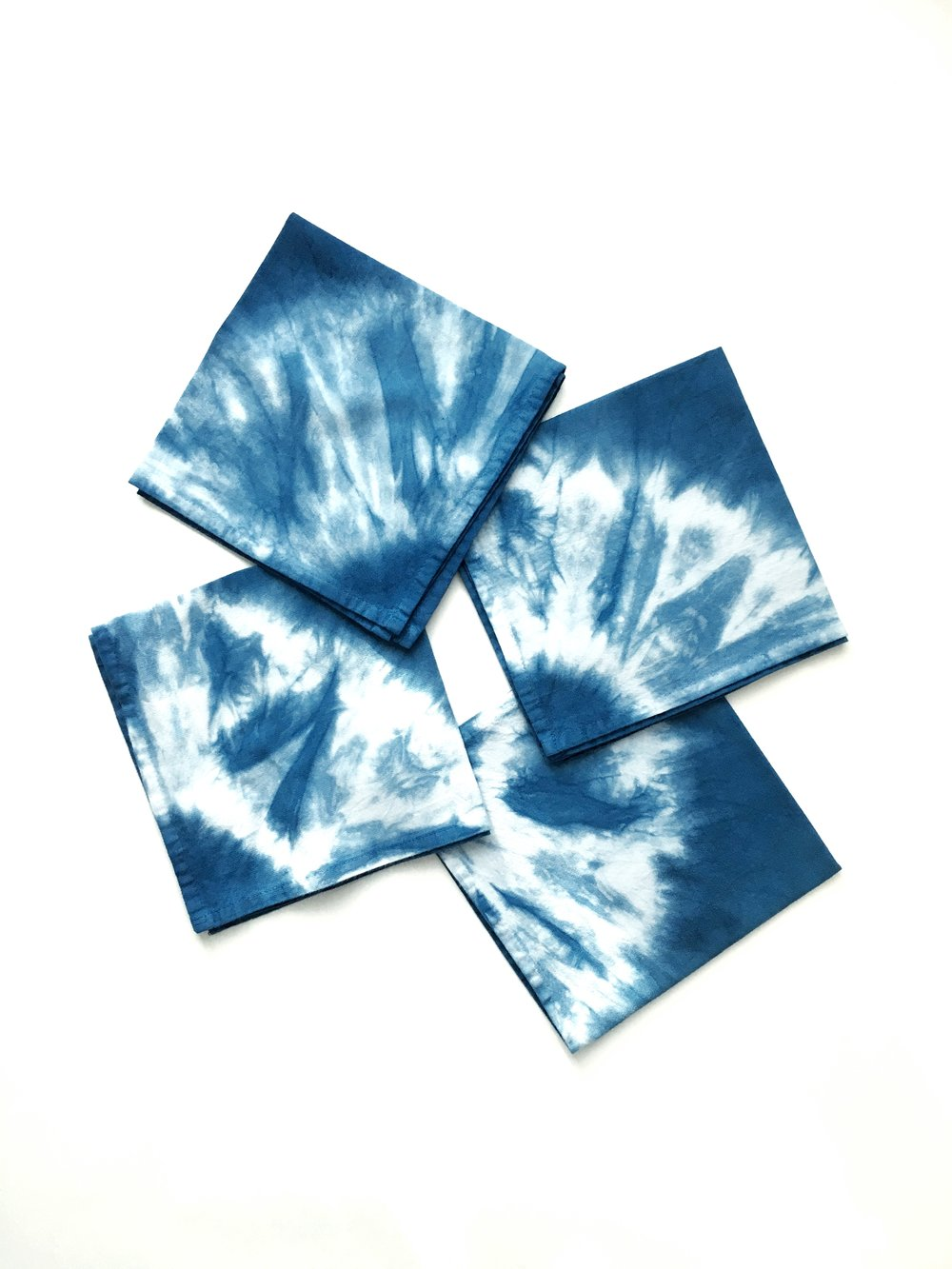 Shibori Napkins - set of 4